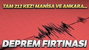 Ankara'da 10 Manisa'da 212 artçı deprem