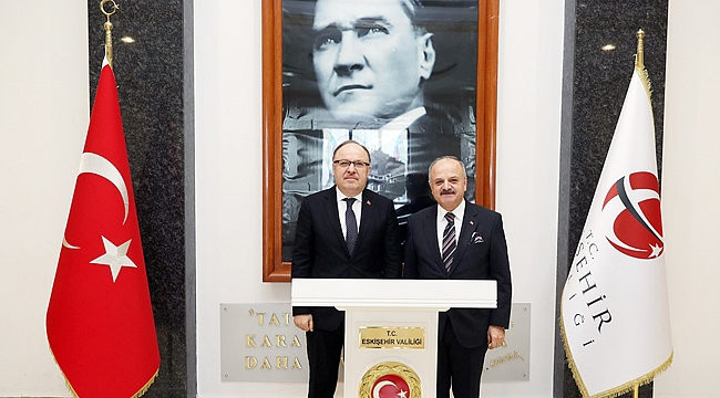 VALİ ÇAKACAK, VALİ TUTULMAZ'I AĞIRLADI