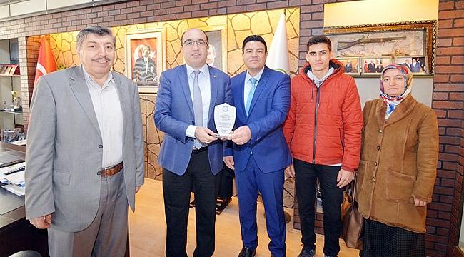 Başkan Çöl'e okullar'dan teşekkür ziyareti