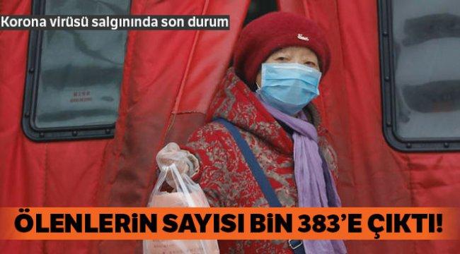 Korona virüsü salgınında ölü sayısı bin 383'e çıktı