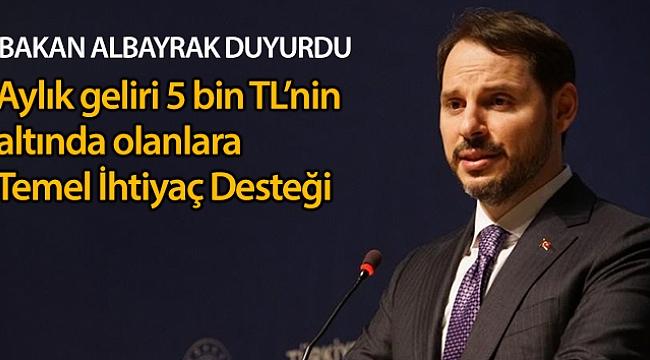 TEMEL İHTİYAÇ DESTEĞİ DEVREDE