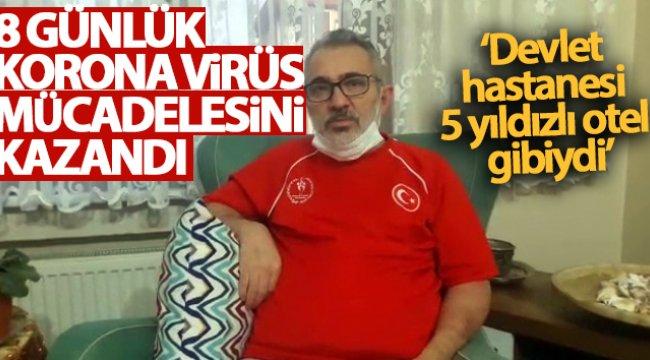 8 günlük korona virüs mücadelesini kazandı, evine döndü