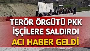 Diyarbakır'da PKK'lı teröristler işçilere saldırdı: 5 sivil şehit