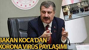 BAKAN KOCA'DAN KORONAVİRÜS PAYLAŞIMI