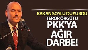 Bakan Soylu duyurdu: Terör örgütü PKK'ya ağır darbe!