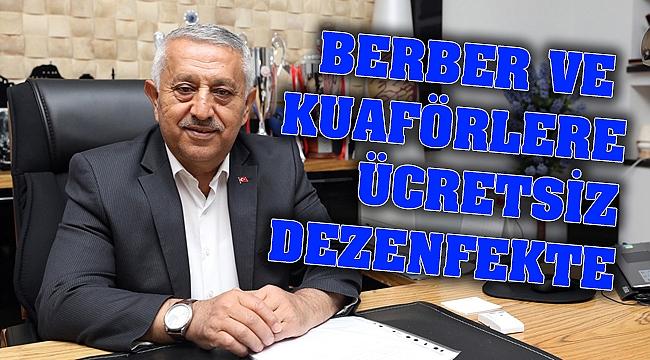 BERBER VE KUAFÖRLER ÜCRETSİZ DEZENFEKTE EDİLECEK