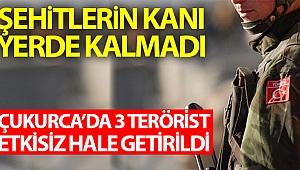 Şehitlerin kanı yerde kalmadı: Çukurca'da 3 terörist etkisiz hale getirildi