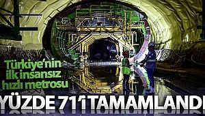 İstanbul Havalimanı Metro Hattı'nın yüzde 71'i tamamlandı