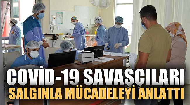 """Afyonkarahisar'daki """"Covid-19 savaşçıları"""" hastalığa karşı zorlu mücadeleyi anlattı"""