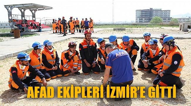 AFAD Afyonkarahisar ekibi deprem bölgesi İzmir'e hareket etti
