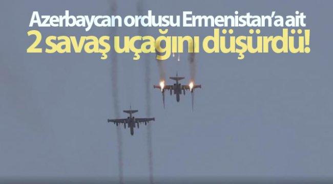 Azerbaycan ordusu, Ermenistan'a ait 2 savaş uçağını düşürdü