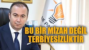 """""""BU BİR MİZAH DEĞİL, TERBİYESİZLİKTİR"""""""