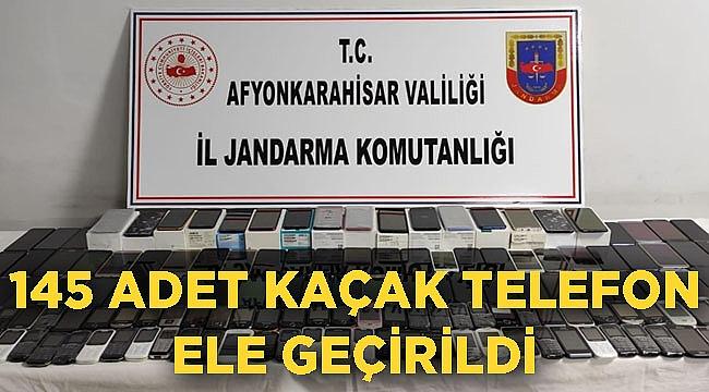 AFYON'DA KAÇAK CEP TELEFONLARI ELE GEÇİRİLDİ
