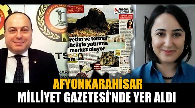 AFYONKARAHİSAR MİLLİYET GAZETESİ'NDE YER ALDI