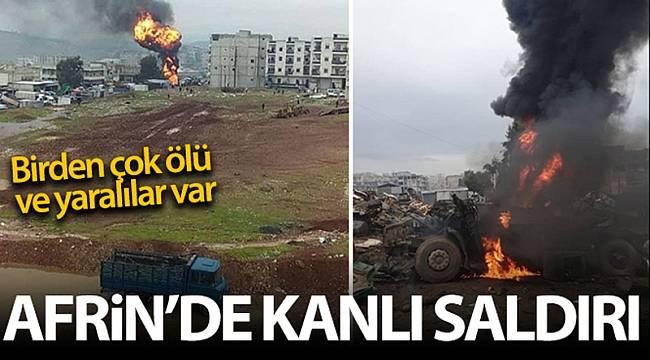 Afrin'de PKK/YPG'nin bombalı saldırısı sonucu 5 kişi hayatını kaybetti, 22 kişi yaralandı