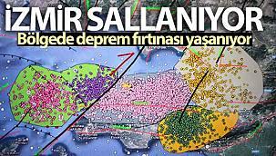 İzmir sallanıyor, bölgede deprem fırtınası yaşanıyor