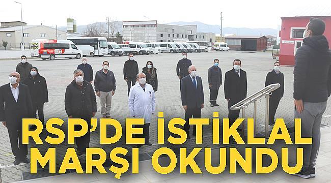 RSP'de İstiklal Marşı okundu