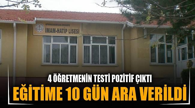 İHSANİYE'DE EĞİTİME 10 GÜN ARA VERİLDİ