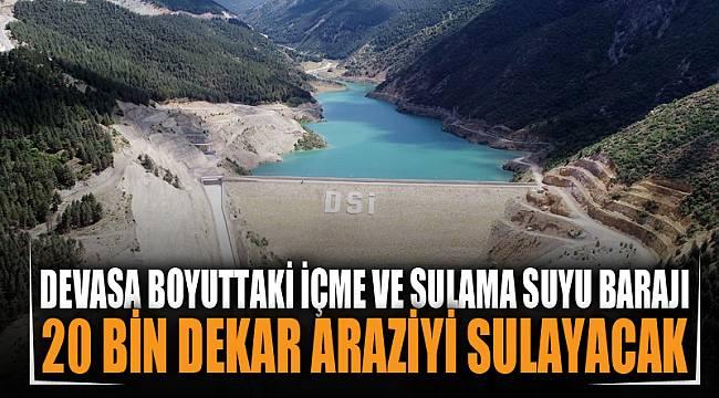 Devasa boyuttaki içme ve sulama suyu barajı drone ile havadan görüntülendi