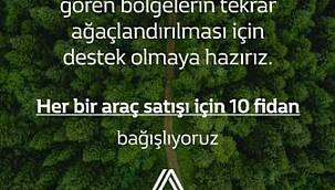 DEMİRELLER OTOMOTİV'DEN YILSONUNA KADAR HER BİR ARAÇ SATIŞINA 10 FİDAN