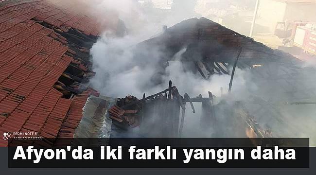 Afyonkarahisar'da iki farklı yangın daha