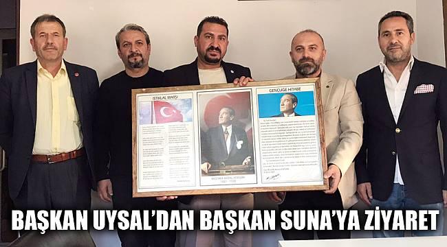 BAŞKAN UYSAL'DAN BAŞKAN SUNA'YA ZİYARET