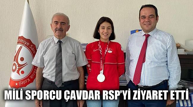 Mili sporcu Çavdar RSP'yi ziyaret etti