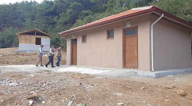 Pınarlı Tabiat Parkı'nı gerçekleştirilen tesis inşaatı devam ediyor