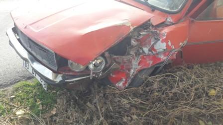 Kazada bir kişi yaralandı
