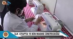 Afyon Belediyesi Ve Halk Eğitim Merkezi Maske Üretiyor