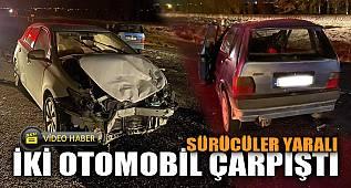 İki otomobilin çarpıştığı kazada sürücüler yaralandı